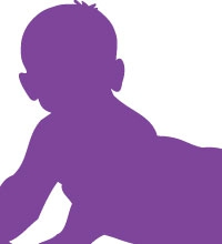 Infant silhouette